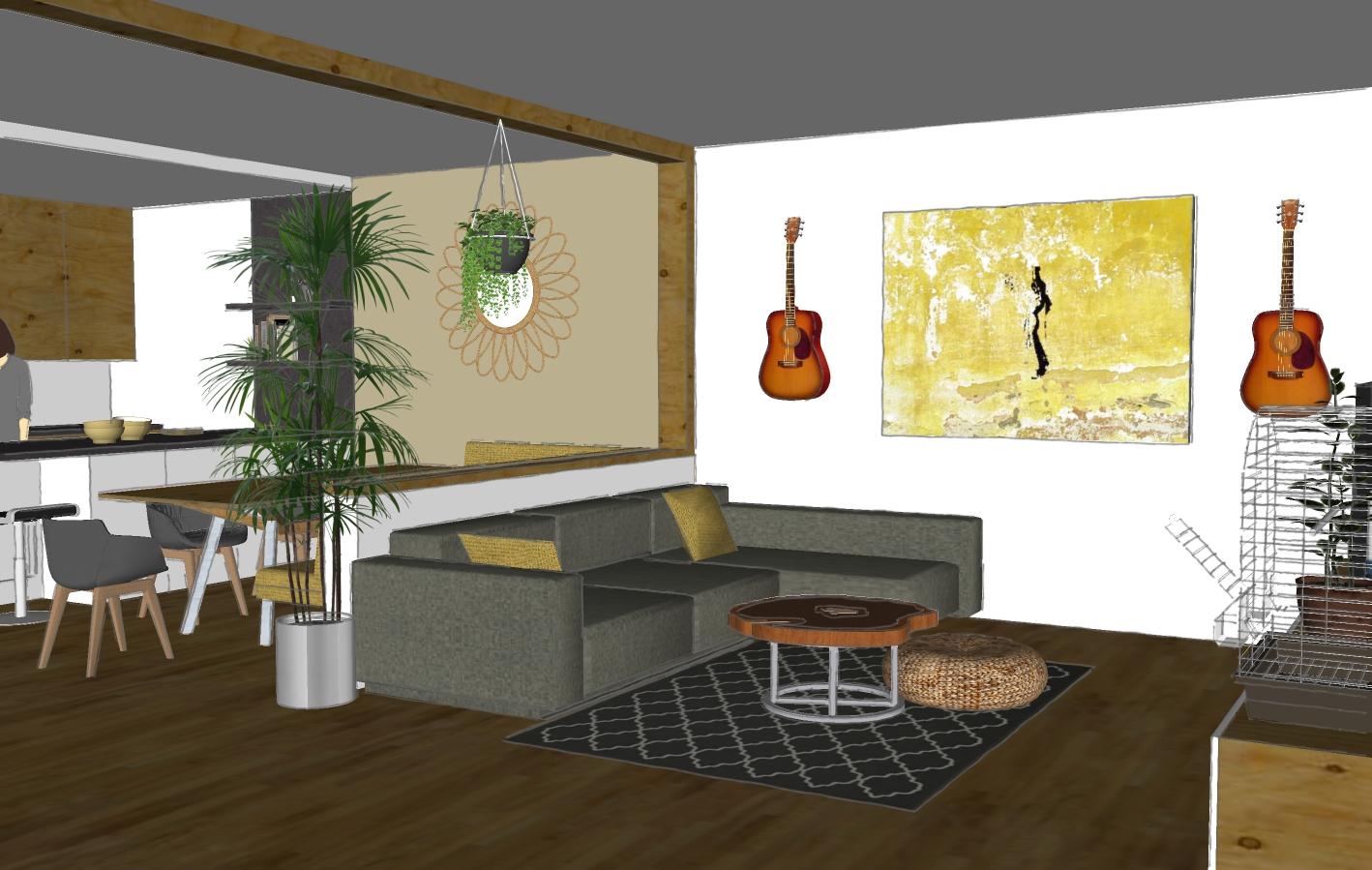Gestaltung Wohnbereich 3D Entwurf