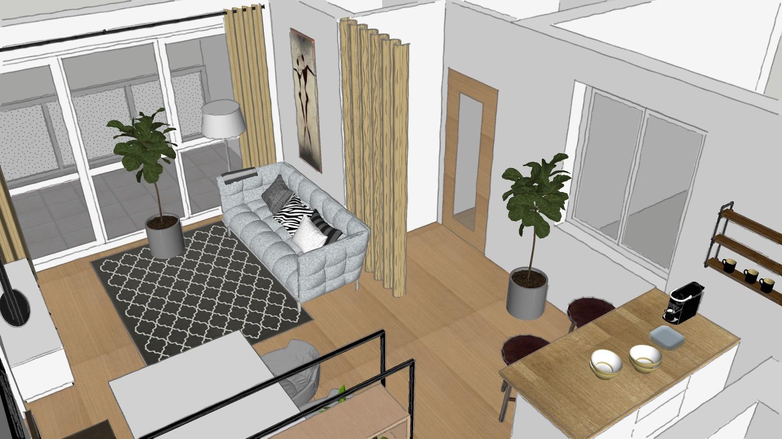 Wohnzimmer 3D Raumgestaltung