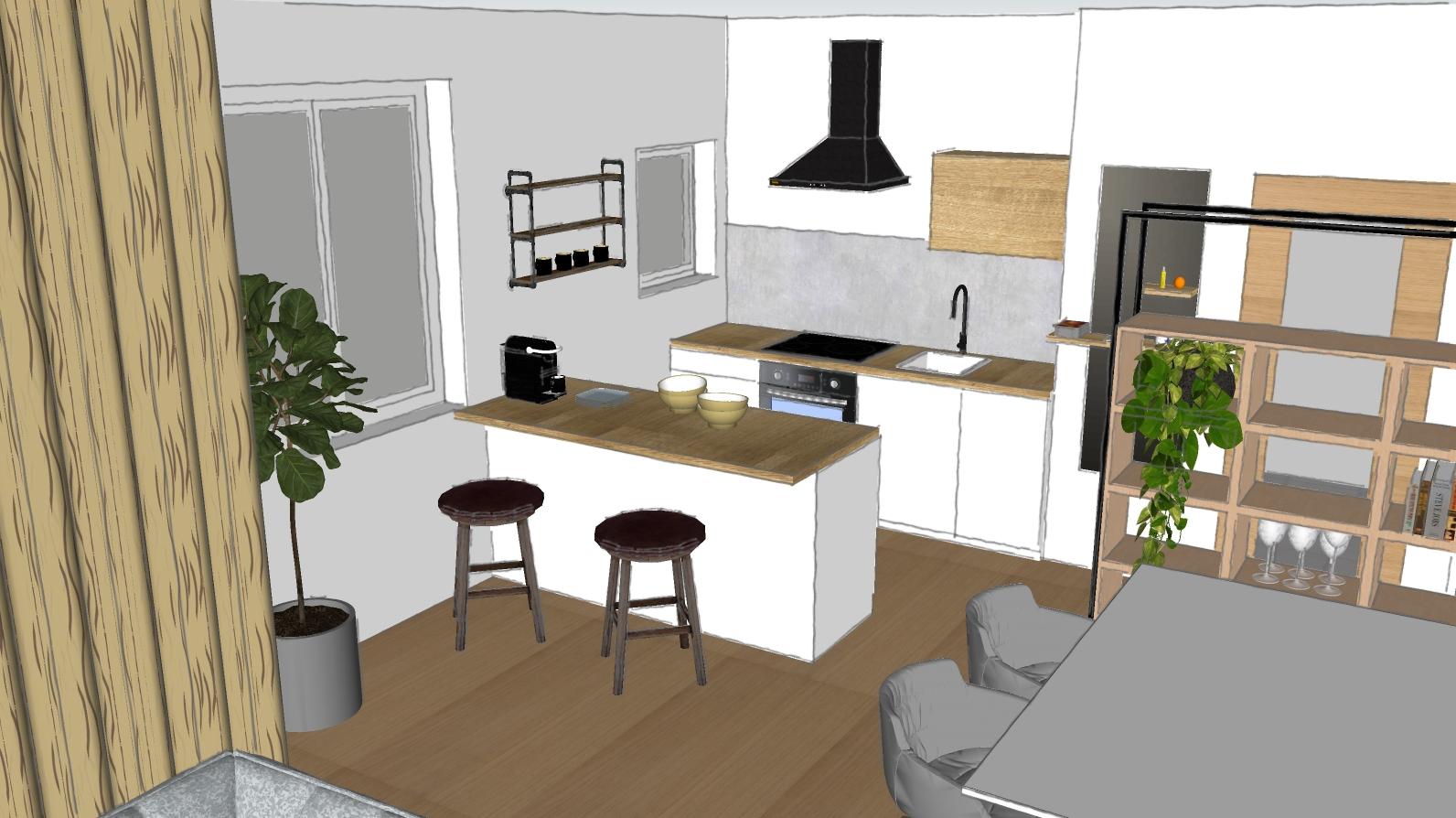 Küchengestaltung 3D Entwurf